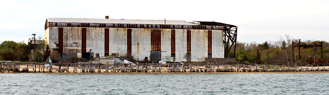 The Old Oyster Factory, a.k.a. Shizen, from the water, 2014. Photo: Bill Stamatis