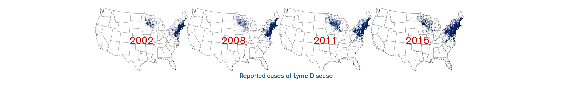 Reported cases of Lyme